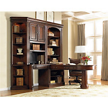 European Renaissance II European Peninsula Desk Office Set with Chair, 8802623