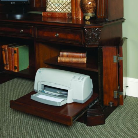 Pull Out Printer Drawer in Credenza