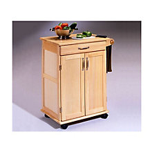 Natural Finish Compact Kitchen Cart, HOT-5040-95