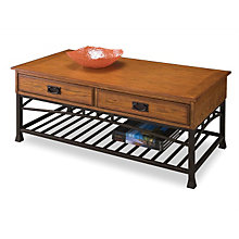 Modern Craftsman Oak Finish Coffee Table, HOT-5050-21
