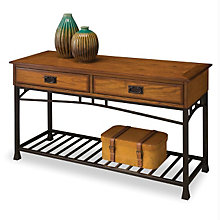 Modern Craftsman Oak Finish Sofa Table, HOT-5050-22