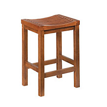 "Cottage Oak Backless Bar Stool - 24""H Seat, HOT-5636-88"