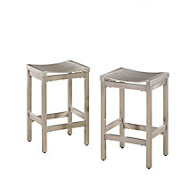 Pair of Stainless Steel Stools, 8826981