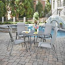 5 Pc Round Outdoor Patio Set, 8827063