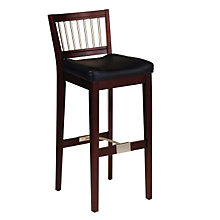 "Coffee Finish Contemporary Bar Stool - 31""H Seat, HOT-5987-88"