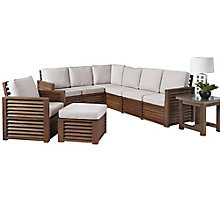 Barnside Polyester L Sofa, Arm Chair, Ottoman and End Table, 8814034