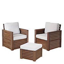 Barnside Polyester Indoor or Outdoor Arm Chairs and Ottoman, 8814038