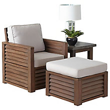 Barnside Polyester Arm Chair, Ottoman and End Table, 8814040