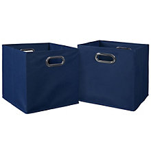 Cubo Set of Two Foldable Canvas Bins, 8803489