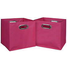 Cubo Set of Four Foldable Canvas Bins, 8803491
