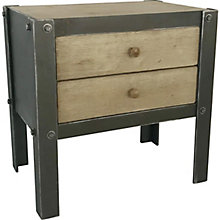 Bolt Side Table W/2 Drawers Natural, 8808847