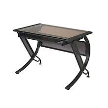 Glass Top Desk w/Corner, 8828795