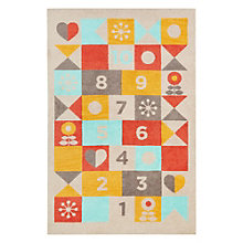Iconic By Petit Collage Hopscotch Area Rug 7.5'W x 9.5'D, 8805265