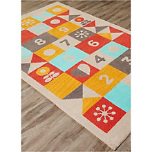 Iconic By Petit Collage Hopscotch Area Rug 5'W x 7.5'D, 8805253