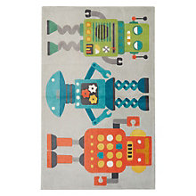 Iconic By Petit Collage Robots Area Rug 7.5'W x 9.5'D, 8805267