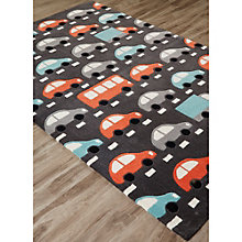 Iconic By Petit Collage Traffic Area Rug 5'W x 7.5'D, 8805256