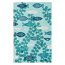 "Iconic By Petit Collage Marine Area Rug 90""W x 114""D, 8805269"
