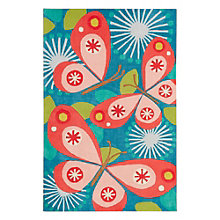 "Iconic By Petit Collage Flutterby Area Rug 90""W x 114""D, 8805270"