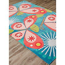 Iconic By Petit Collage Flutterby Area Rug 5'W x 7.5'D, 8805258