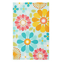 "Iconic By Petit Collage Spring Flowers Area Rug 90""W x 114""D, 8805271"