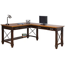 "Hartford Two-Tone L-Desk - 60""W, 8803199"