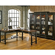 Hartford L-Desk with Right Return and Bookcase Wall Set, 8804485