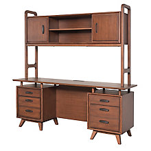 "NuHaus Credenza with Hutch - 70""Wx21""Dx73""H, 8822608"