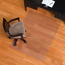 "Smooth Chairmat for Hard Floors - 3'9""W x 4'5""D, INV-132131"