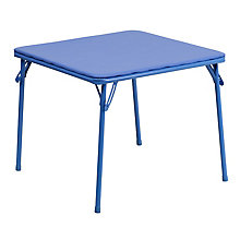 Blue folding table set, 8812210