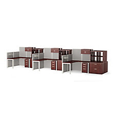 Six Paneled Corner Desk Workstations with Storage and Filing, 8814530
