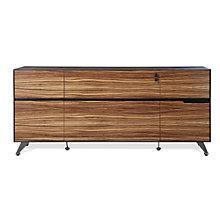 Wood Veneer Two Drawer Filing Credenza, JES-10363