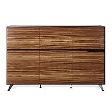 "Wood Veneer Executive Wardrobe Storage Cabinet - 49""H, JES-10365"