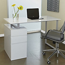 "Tribeca Modern Compact Writing Desk with Storage - 48"" x 24"", JES-10368"