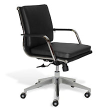 Greta Low Back Computer Chair in Leatherette, JES-10556