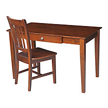 Compact Desk with Drawer and Chair Set, 8812993
