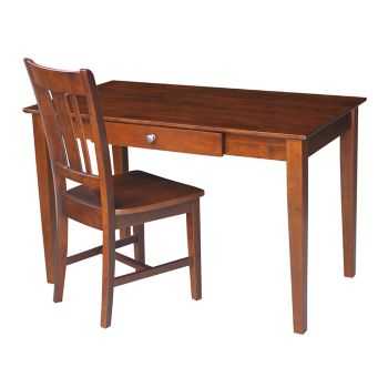Astonishing Compact Desk With Drawer And Chair Set Andrewgaddart Wooden Chair Designs For Living Room Andrewgaddartcom