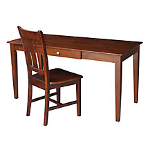 Compact Desk with Drawer and Matching Chair, 8812994