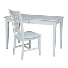 Compact Desk with Drawer and Chair Set, 8812987