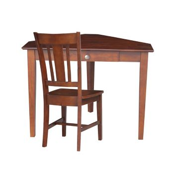 Fine Compact Corner Writing Desk With Center Drawer And Chair Set Andrewgaddart Wooden Chair Designs For Living Room Andrewgaddartcom