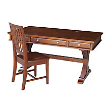 X-Leg Writing Desk with Three Drawers and Chair Set, 8812999