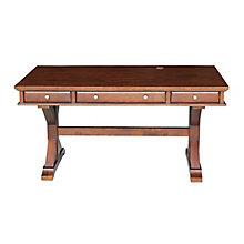 "X-Leg Writing Desk with Three Drawers - 60""W, 8812998"