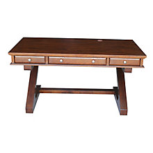 "Z-Leg Writing Desk with Three Drawers - 60""W, 8813000"