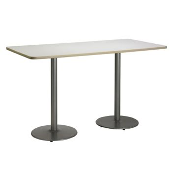 Bar Height Round Base Two Pedestal Table 72wx36d Officefurniture Com