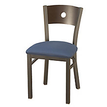 Cafe Chair with Fabric Seat and Circular Cut-Out, 8822456