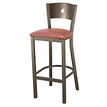 Barstool with Vinyl Seat and Circular Cut-Out, 8822453