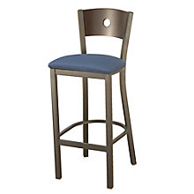Barstool with Fabric Seat and Circular Cut-Out, 8822452