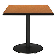 """Square Table with Black Base - 30""""W x 30""""D, 8813422"""