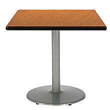 """Square Table with Silver Base - 30""""W x 30""""D, 8813423"""