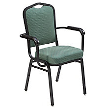 Stacking Fabric Banquet Chair with Arms, 8822444