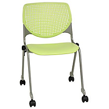 Perforated Back Polypropylene Stack Chair with Casters, 8814354